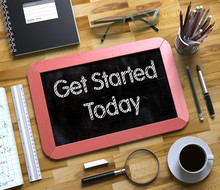 Get Started Today Concept On S...