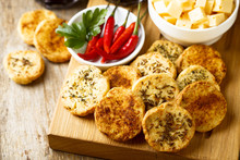 Cheese Cookies With Chili, Herbs And Cumin