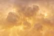 Leinwandbild Motiv Golden clouds background