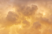 Golden Clouds Background