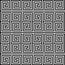 Square Spiral Seamless Geometric Texture. Vector Art.