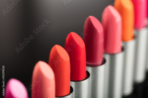 Close-up Of Colorful Lipstick Poster