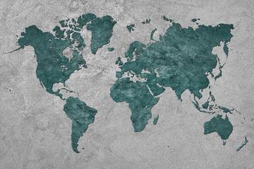 FototapetaGrunge Map of the World. Vintage style.