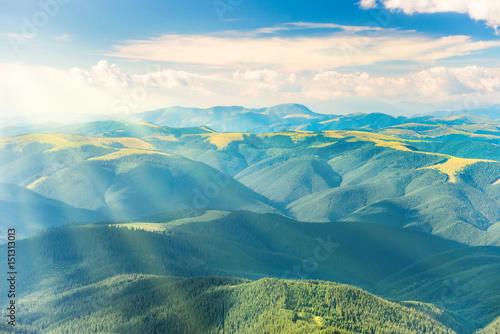 Foto auf Gartenposter Hugel Landscape with green hills