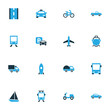 Transport Colorful Icons Set. Collection Of Sailboat, Scooter, Parking And Other Elements. Also Includes Symbols Such As Jet, Bogie, Rocket.