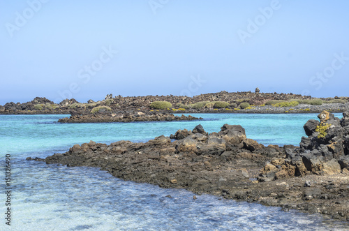 Poster Canarische Eilanden Lobos Island in Canary Islands, Spain