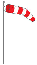 Windsock Vector Illustration