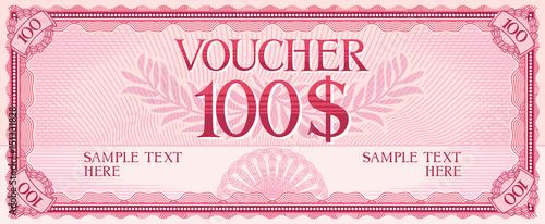 Fotografía  voucher design - 100 dollars (template)