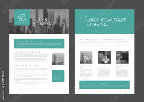 Modern Brochure Template Flyer Design Vector Template Buy This