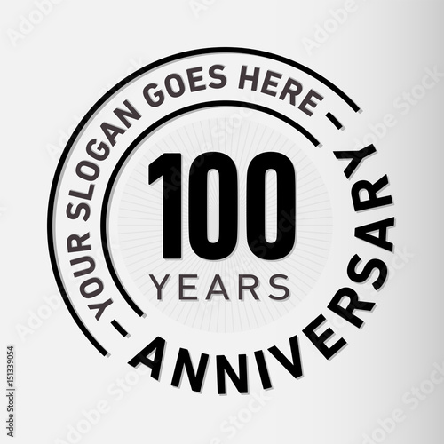 Papel de parede  100 years anniversary logo template. Vector and illustration.