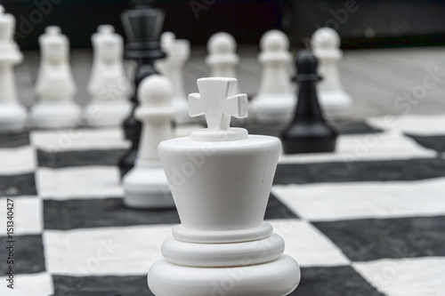 Life Size Chess Pieces And Giant Board