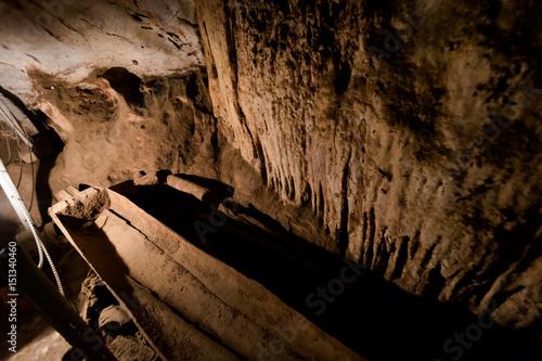 Fototapeta Wooden graves in Lod Cave obraz na płótnie