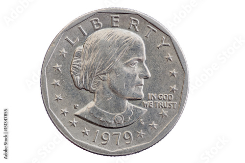 Susan B Anthony Dollar Coin Canvas Print