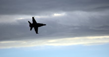 Silhouette Of F18 Hornet Fight...