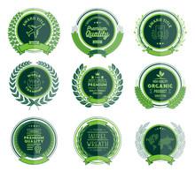 Luxury Green Badges Laurel Wreath Collection
