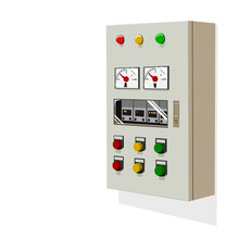Isolated Control Panel On Whit...