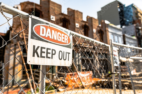 Danger Keep Out sign - horizontal Canvas Print