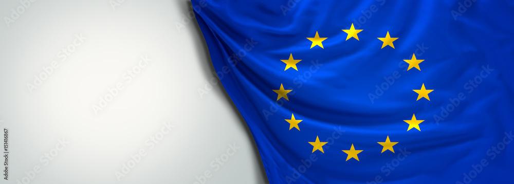 Fototapeta Flag of Europe EU 3d rendering