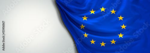 Foto  Flag of Europe EU 3d rendering