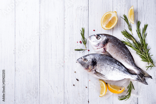 Fotografie, Obraz  Fresh raw fish dorado