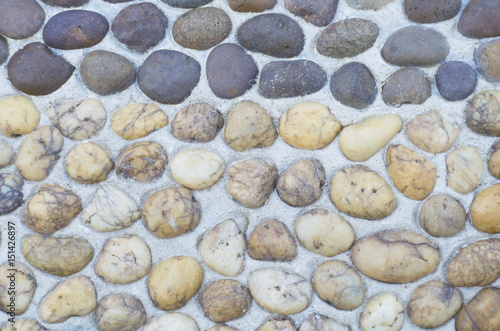 Gravel floor with many colors in many sizes  Walkway  Garden