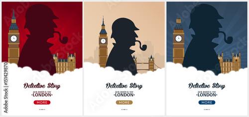 Fotomural Set of Sherlock Holmes posters