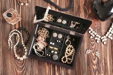 Jewelry Accessories In Box And...