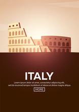 Travel Poster To Italy. Landma...