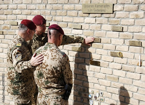 German armed forces Bundeswehr soldiers pay their respects