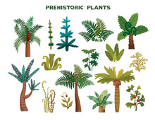 Set Of Prehistoric Plants