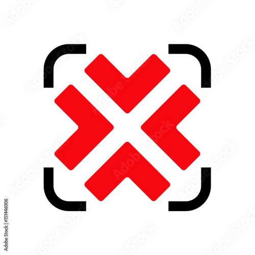 Fotografie, Obraz  Logotipo reducir negro y rojo