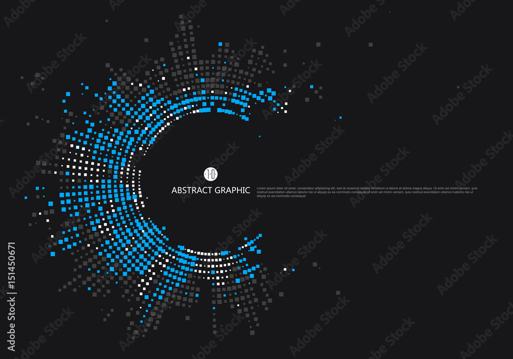 Fototapety, obrazy: Radial lattice graphic design, abstract background.