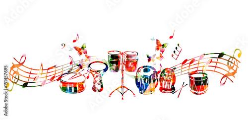 Music instruments background Fototapete