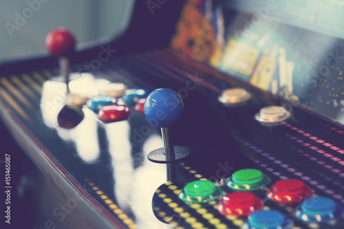Arcade machine close up Fotobehang