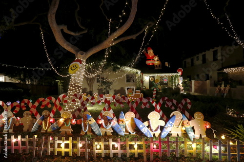christmas lights are seen on a home in torrance - Christmas Lights In Torrance