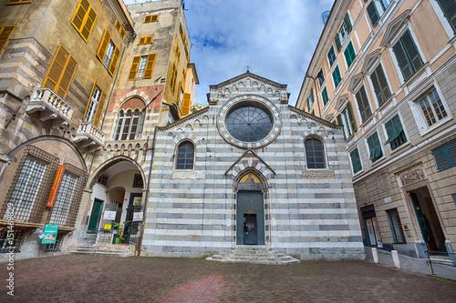 Fotografie, Obraz  GENOA (GENOVA), ITALY, MAY 05, 2017 - San Matteo (Mattew) Church in Genoa histor