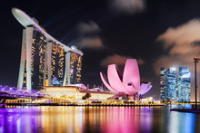 Scenic View Of Marina Bay In S...