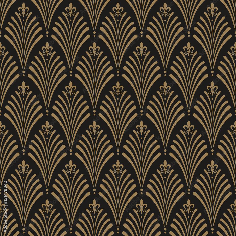 Art Deco, seamless wallpaper pattern