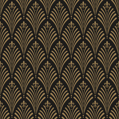 Panel Szklany Podświetlane Art Deco Art Deco, seamless wallpaper pattern