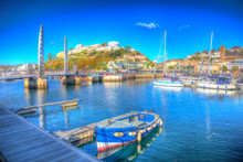 Torquay Devon UK Harbour With Boats
