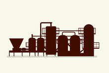 Brewery Equipment Silhouette
