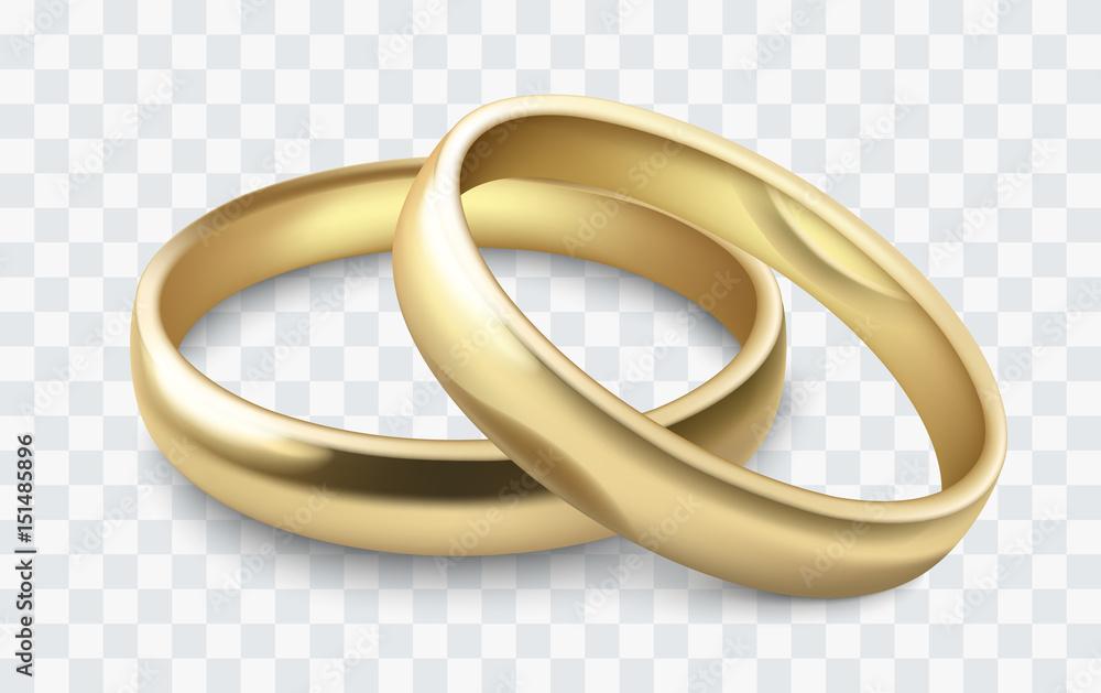 Fototapety, obrazy: vector wedding rings