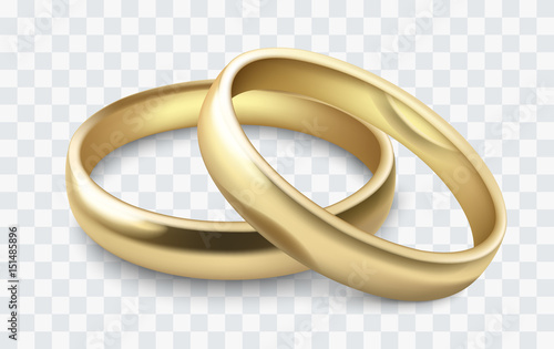 Fotografia, Obraz vector wedding rings