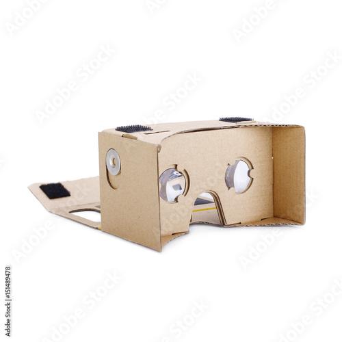 Photo  Virtual Reality Headset Isolated on White Background