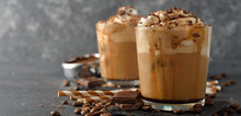Cold Frappe Coffee With Cream