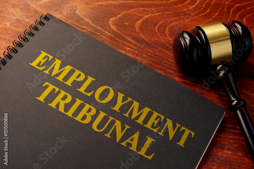 Obraz na plátně Book with title employment tribunal on a table.