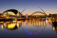 Tyne Bridges At Sundown