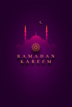 Islamic Greeting Card Design For Ramadan Kareem
