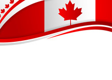 Canadian Flag Themed Banner Wi...
