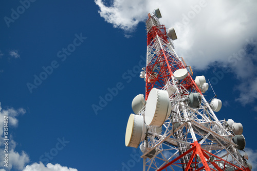 Canvas Print Telecommunications tower view